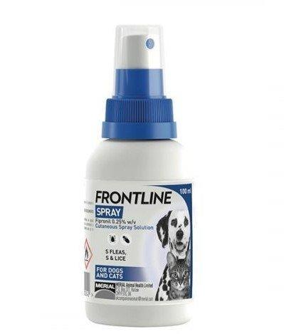 Frontline antiparazitný sprej pre psy a mačky 100ml