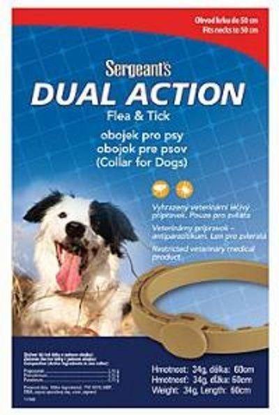 Sergeant´s Dual Action obojok pre stredne veľké psy 60cm