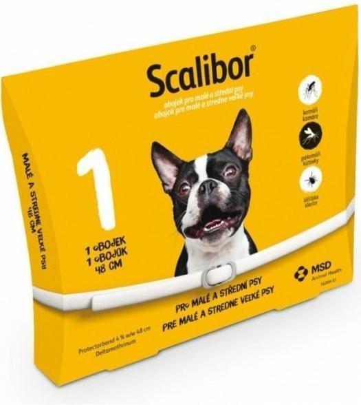 Scalibor obojok pre malé a stredne veľké psy 48cm