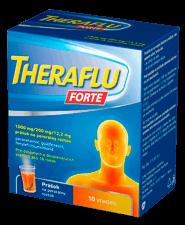 THERAFLU FORTE 10ks - Theraflu Forte 1000mg/200mg/12,2mg prášok na perorálny roztok plo.por.10