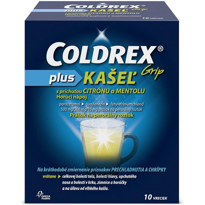 Coldrex Grip Plus kašeľ s príchuťou citrónu a mentolu plo.por.10 x 500mg