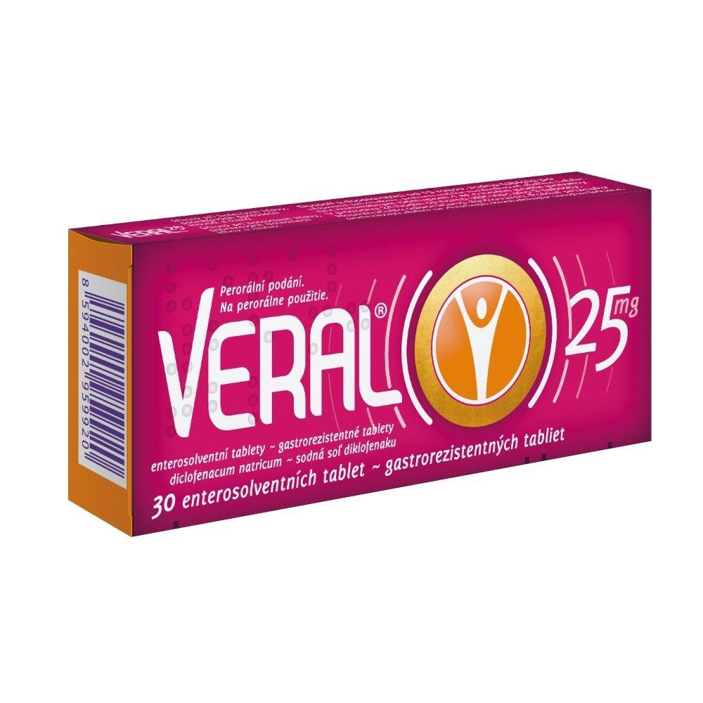 VERAL 25 mg, 30 tabliet - Veral 25mg tbl.ent.30 x 25mg