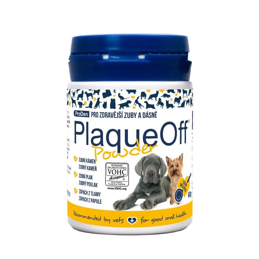 PlaqueOff Powder prášok na zuby pre psy a mačky 60g