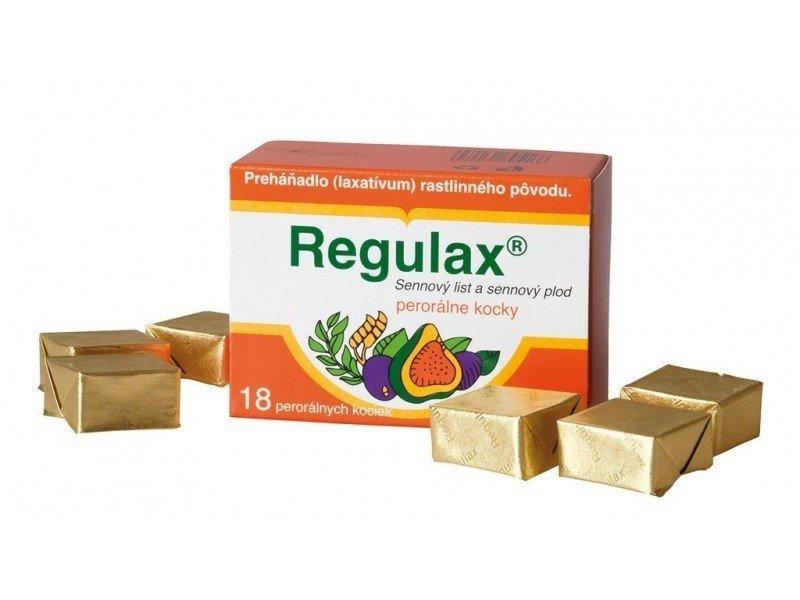 Regulax- rastlinné preháňadlo 18 kociek