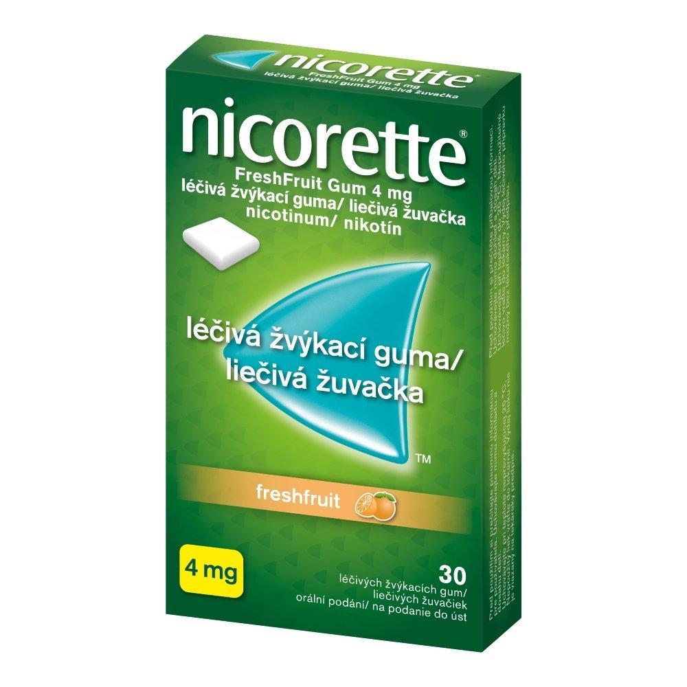 Nicorette Fresh Fruit 4 mg žuvacie tablety proti fajčeniu, 30 ks