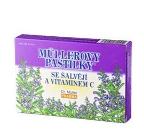 Mullerove pastilky so šalviou a vitamínom C 24tbl