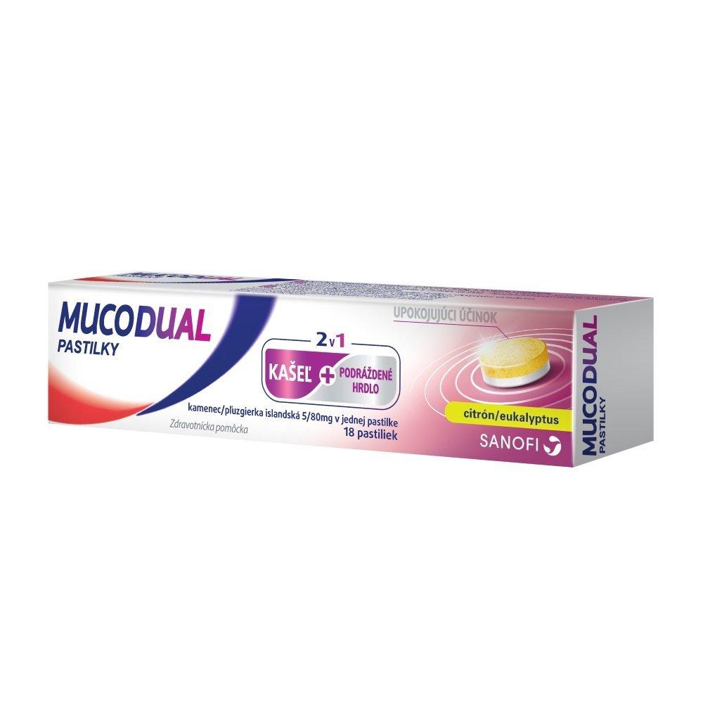 Mucodual 80-5 mg 18 pastilek