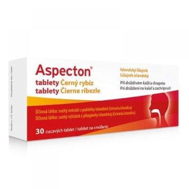 Aspecton tablety Čierne ríbezle proti kašľu 30tbl