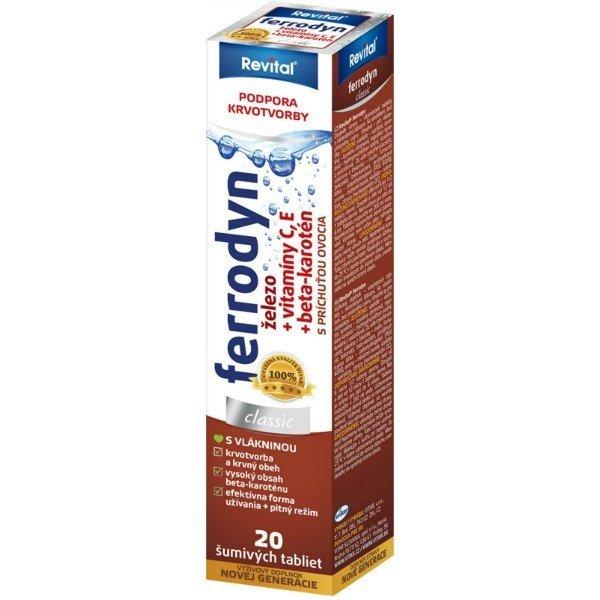 Revital Ferrodyn eff 20 tbl - Vitar Revital ferrodyn 20 šumivých tabliet