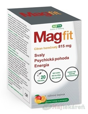 Magfit gel vo vrecúškach 20ks - Magfit gél vo vrecúškach 20 ks