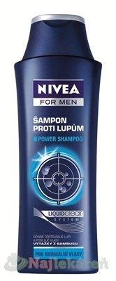 NIVEA MEN POWER Šampón proti lupinám pre mužov - Nivea Men Power šampón proti lupinám 250 ml