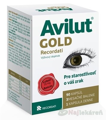 AVILUT Gold Recordati - Avilut Ginkgo Recordati 90 kapsúl
