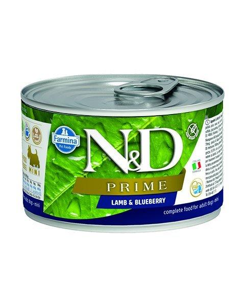 Farmina N&D dog PRIME lamb & blueberry konzerva 140 g