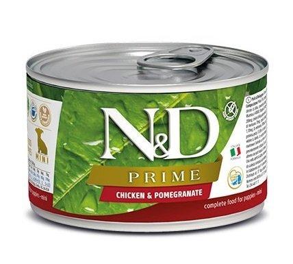 Farmina N&D dog PRIME puppy, chicken & pomegranate konzerva 140 g