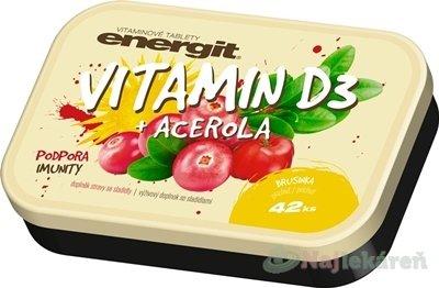 Energit VITAMIN D3 + ACEROLA, 42ks