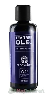 renovality TEA TREE OLEJ - Renovality Tea Tree olej s kapátkem 100 ml