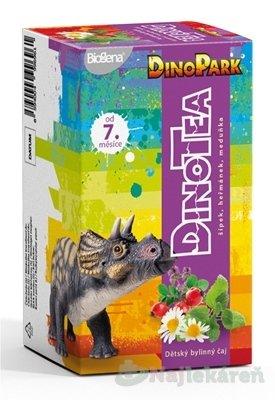 Biogena DinoTea šípka, rumanček, medovka - Biogena DinoTea šípka, rumanček, medovka detský bylinný čaj (od ukonč. 7. mesiaca), nálevové vrecúška 20x1,5 g (30 g)