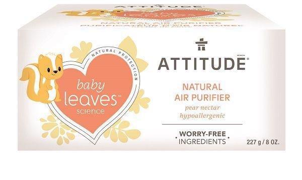 ATTITUDE Prírodný čistiaci osviežovač vzduchu Baby leaves s vôňou hruškovej šťavy 227 g