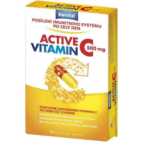 REVITAL Active vitamín C 500 mg 30 kps