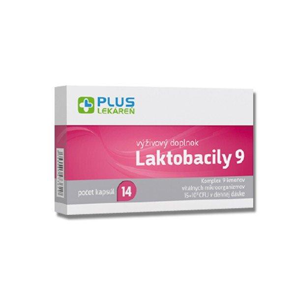 Plus Lekáreň Laktobacily 9 na podporu trávenia, 14 cps