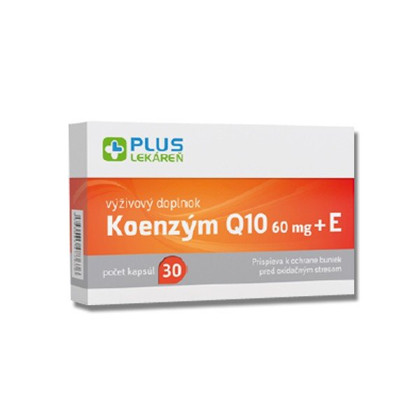 Plus lekareň Koenzým Q10 60 mg + Vitamín E 30 cps