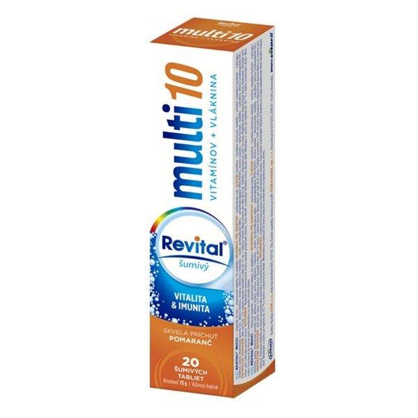 REVITAL Multi10 multivitamín pomaranč 20 tbl