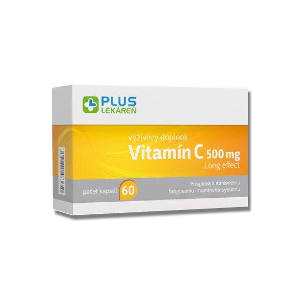 Plus Lekáreň Vitamín C 500 mg long effect 60 cps