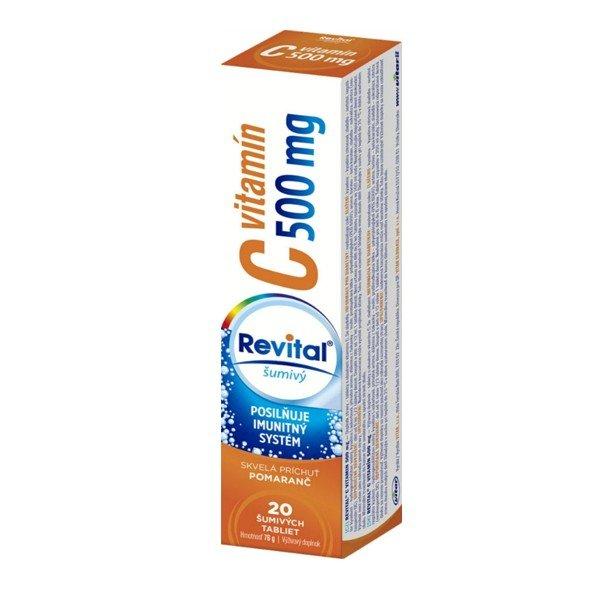 REVITAL Vitamín C 500 mg pomaranč 20 tbl