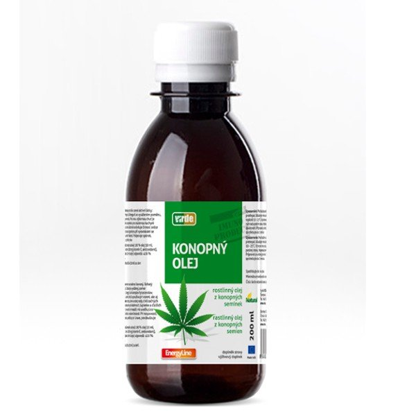Virde KONOPNÝ OLEJ 100 % rastlinný olej z konopných semien 200 ml - Karel Nikl Konopný olej 200ml