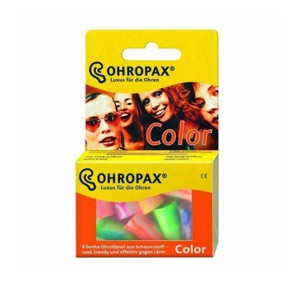 OHROPAX Chránič sluchu Ohropax Color 8ks - R&J R&J OHROPAX COLOR Ušné vložky v plastovom obale 8 ks
