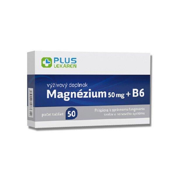 Plus Lekáreň Magnézium 50 mg + B6 50 tbl