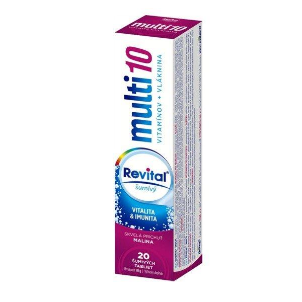 REVITAL Multi10 multivitamín malina 20 tbl