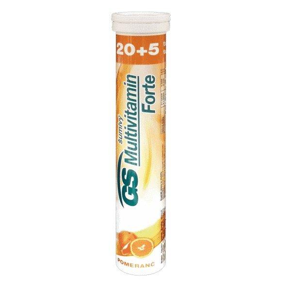 GS Multivitamín šumivý FORTE pomaranč 25 tbl