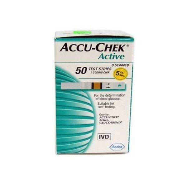 Accu-Chek Active 50 testovacích prúžkov