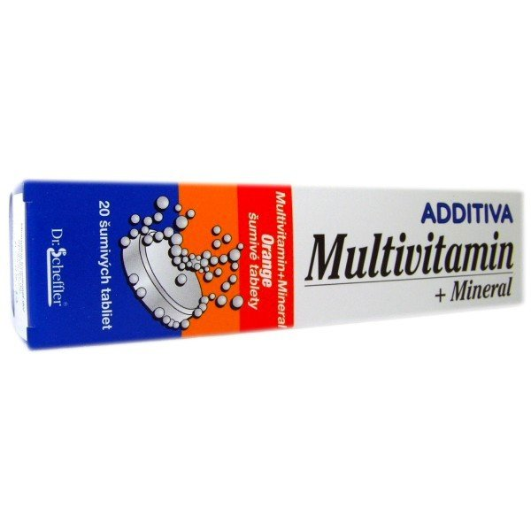 Additiva multivitamin+mineral pomaranč eff 20 tbl
