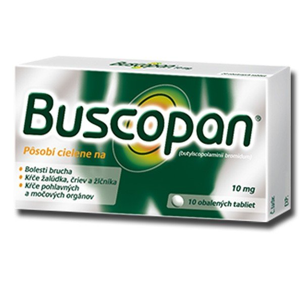 Buscopan 10 mg 10 tbl