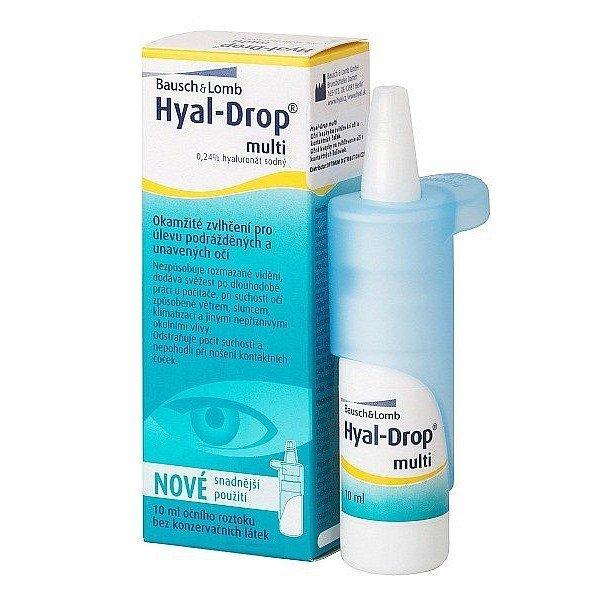 Bausch & Lomb očné kvapky Hyal-Drop Multi 10 ml