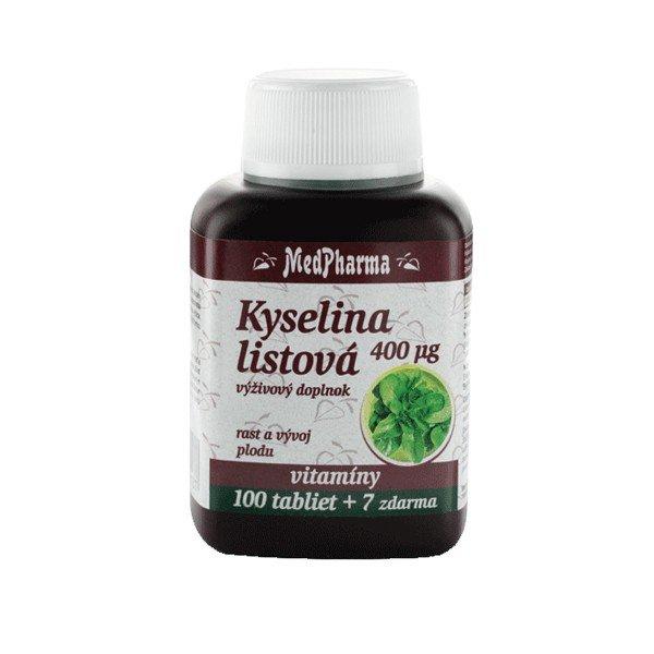 MedPharma Kyselina listová 400MCG 107 tablet