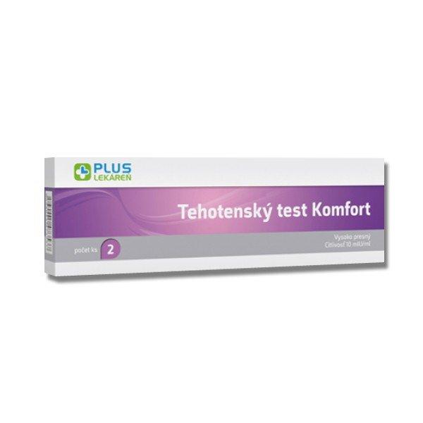 Plus Lekáreň Tehotenský test Komfort 2 ks