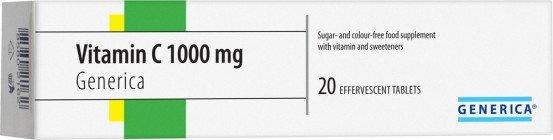 Generica Vitamín C 1000mg 20 EFF