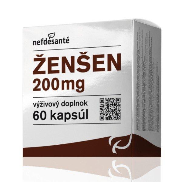 Nefdesanté ŽENŠEN 60 x 200 mg
