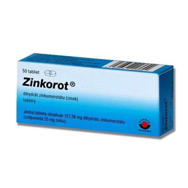 Zinkorot - zinok 25 mg, 50 tabliet