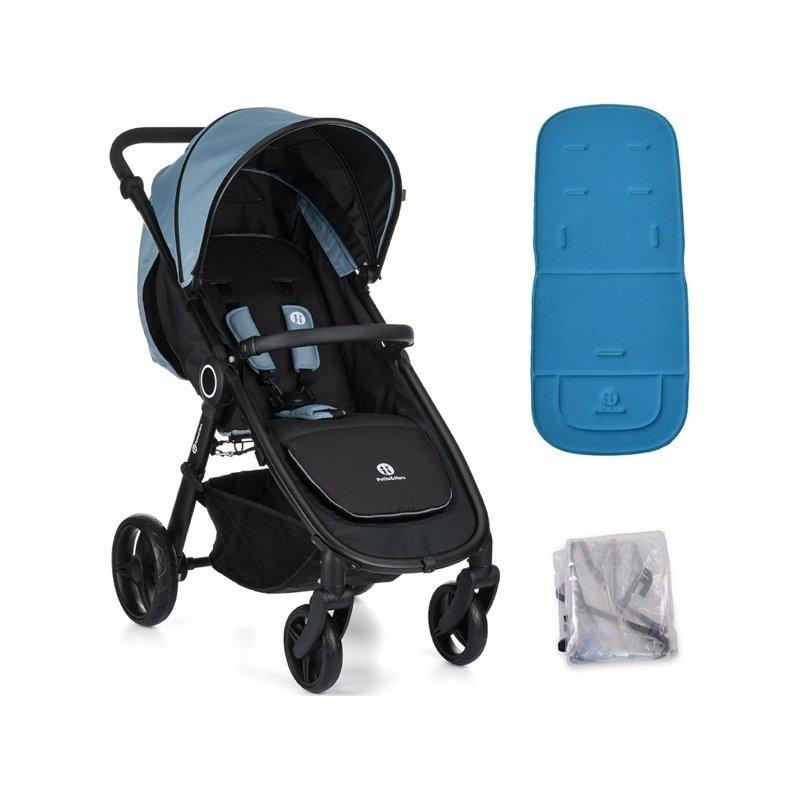 PETITE&MARS Kočík Street Steel Blue s vložkou a pláštenkou - Angelcare Kôš na plienky Dress Up 1 kazeta náhradné kazety 3 ks poťah na kôš Elephant