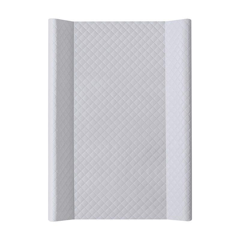 CEBA Podložka prebaľovacia MDF 70 cm Caro šedá - Ceba Baby podložka so zdvihnutým okrajom mäkká CARO premium line sivá 70 x 50