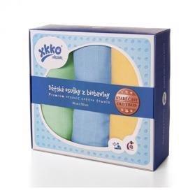 KIKKO Osušky / plienky detské z biobavlny Staré časy 90x100 (3 ks) – pastels, pre chlapcov