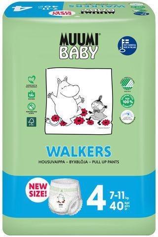 MUUMI Nohavičky plienkové jednorázové 4 Maxi 7-11kg 40ks Baby
