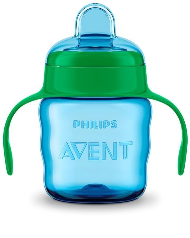 Philips AVENT Hrnček pre prvé dúšky Klasik 200 ml s držadlami chlapec - Avent kúzelný hrnček Classic 200 ml chlapec zelená