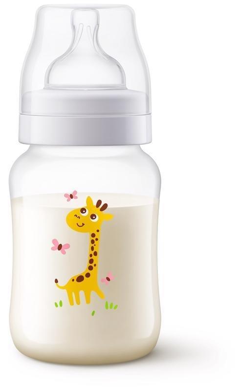 Philips AVENT Fľaša 260 ml Antikolik žirafa