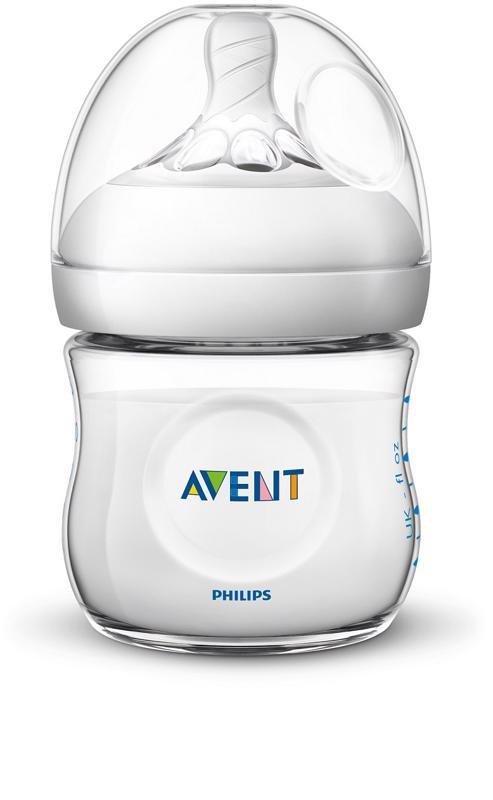 Philips AVENT Fľaša 125 ml Natural - AVENT Fľaša Natural PP 125 ml bez BPA priesvitná