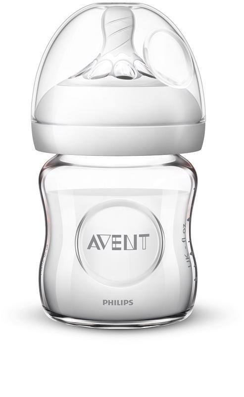 Philips AVENT Fľaša 120 ml Natural SKLO - Philips Avent Sklenená fľaša Natural 125 ml bez BPA